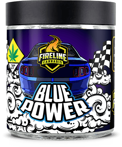 Blue Power Marijuana Weed Pot Flower Bud