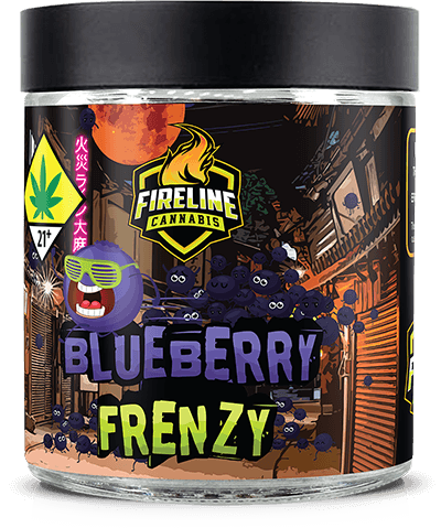 Blueberry Frenzy Marijuana Weed Pot Flower Bud