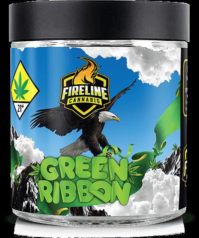 Green Ribbon Marijuana Weed Pot Flower Bud