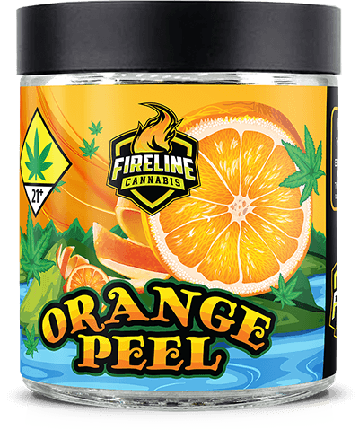 Orange Peel Marijuana Weed Pot Flower Bud