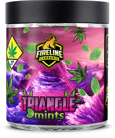 Triangle Mints Marijuana Weed Pot Flower Bud